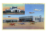 Warwick, Rhode Island - View of T F Green Airport in Formerly Hills Grove Posters by  Lantern Press