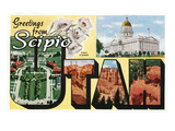 Greetings from Scipio, Utah Posters by Lantern Press 