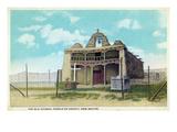 Cochiti Pueblo, New Mexico - View of the Old Church Print by  Lantern Press