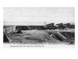 Pensacola, Florida - Fort Barrancas Cannons Poster von  Lantern Press