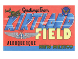Albuquerque, New Mexico - Kirtland Field, Large Letter Scenes Prints by  Lantern Press