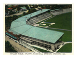 Atlanta, Georgia - Spiller Baseball Field Aerial View Poster von Lantern Press
