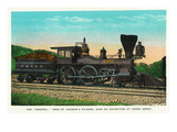 "Chattanooga, Tennessee - View of the ""General"" Train Used by Andrew's Raiders, at Union Depot Prints by Lantern Press"