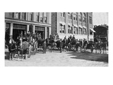 Elgin, Illinois - View of the City's Firefighters on Carriages Prints by Lantern Press