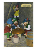 Lookout Mountain, Tennessee - Fairyland Caverns, Interior View of Gnomes Playing Poker Prints by  Lantern Press
