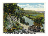 Lookout Mountain, Tennessee - Dixie Sight-Seeing Car at Jonas' Bluff on the Mountain Posters by  Lantern Press