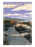 Pacific Grove, California - Asilomar Boardwalk Posters by  Lantern Press