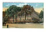 Saratoga Springs, New York - United States Hotel Exterior View Posters by  Lantern Press