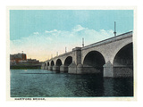 Hartford, Connecticut - Hartford Bridge Scene Poster by  Lantern Press