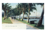Palm Beach, Florida - View of the Lake Front Prints by  Lantern Press