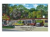 Tallahassee, Florida - Aaa Dining Room Motor Hotel Poster von  Lantern Press
