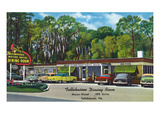 Tallahassee, Florida - Aaa Dining Room Motor Hotel Posters by Lantern Press
