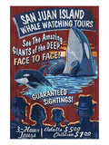 San Juan Island, Washington - Whale Watching Art by  Lantern Press