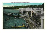 Minneapolis, Minnesota - View of Lake Harriet Pavilion Posters by  Lantern Press