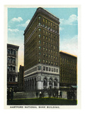 Hartford, Connecticut - Hartford National Bank Building Exterior Prints by  Lantern Press