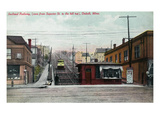 Duluth, Minnesota - View of the Superior St Incline Railway Poster von  Lantern Press