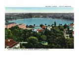 Orlando, Florida - Lake Eola Aerial, Memorial High School Kunstdrucke von  Lantern Press