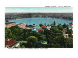 Orlando, Florida - Lake Eola Aerial, Memorial High School Prints by  Lantern Press