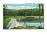 Allegany State Park, New York - View of the Lake and Spillway Prints by  Lantern Press