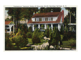Saratoga Springs, New York - Inniscarra Front View Lmina por Lantern Press