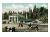 Saratoga Springs, New York - Congress Spring Scene in 1848 Prints by  Lantern Press
