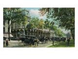 Saratoga Springs, New York - Exterior View of Congress Hall Prints by  Lantern Press