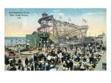 Long Beach, California - View of Amusement Rides Along the Pike Kunstdrucke von  Lantern Press