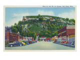 Red Wing, Minnesota - Main Street View of Mt. La Grange Posters by  Lantern Press