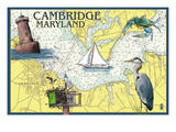 Cambridge, Maryland - Nautical Chart Posters by  Lantern Press
