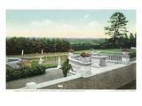 Lantern Press - Saratoga Springs, New York - View from the Yaddo Rose Garden Terrace Reprodukce