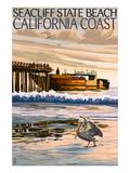 Seacliff State Beach, California Coast Art par  Lantern Press