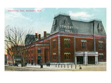Rochester, New York - Convention Hall Exterior View Pósters por Lantern Press