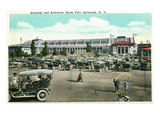 Syracuse, New York - State Fair Grounds and Entrance View Print by  Lantern Press