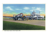 Grand Rapids, Michigan - Boarding Scene at Kent County Airport Print by  Lantern Press