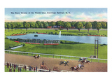 Saratoga Springs, New York - View of the Race Track Finish Line Posters by  Lantern Press