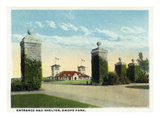 Kansas City, Missouri - View of the Swope Park Entrance and Shelter Art by  Lantern Press