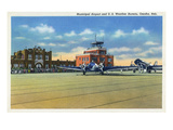 Omaha, Nebraska - US Weather Bureau and Municipal Airport View Posters by  Lantern Press