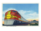 View of a Santa Fe Streamlined Train Prints by  Lantern Press