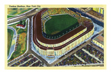 New York, New York - Aerial View of Yankee Stadium Posters by Lantern Press