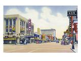 Albuquerque, New Mexico - Eastern View Up Central Avenue Kunstdrucke von  Lantern Press