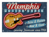 Memphis, Tennessee - Guitar Shack Print by Lantern Press