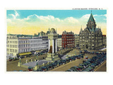Syracuse, New York - Clinton Square View Posters by  Lantern Press