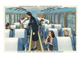 Interior View of Chicago and Northwestern Line Streamliner 400 Train Prints by  Lantern Press