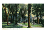 Syracuse, New York - View of Fayette Park Art by  Lantern Press