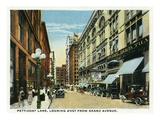 Kansas City, Missouri - Western View Down Petticoat Lane from Grand Avenue Poster von  Lantern Press