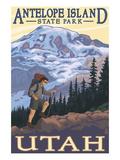 Antelope Island State Park, Utah - Hiking Scene Print by  Lantern Press