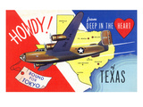 Texas - B-24 Howdy, Bound for Tokyo WWII Promo Prints by  Lantern Press