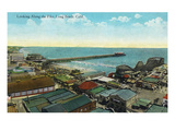 Long Beach, California - Aerial View over the Pike Posters by  Lantern Press