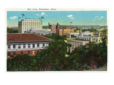 Rochester, Minnesota - View of the City Skyline Print by  Lantern Press