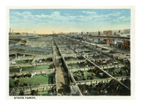 Kansas City, Missouri - General View of the Stockyards Poster by  Lantern Press
